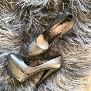 Silver platform Casadei shoes